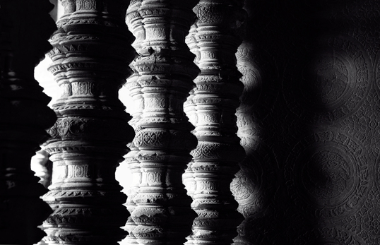 Link to image of Window Balusters and Wall Carvings, Angkor Wat, Siem Reap