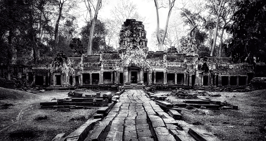 Link to image of Entrance to Central Sanctuary of Ta Prohm, 1993, Siem Reap