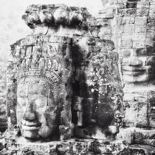 Link to image of Three Faces, Bayon, Siem Reap