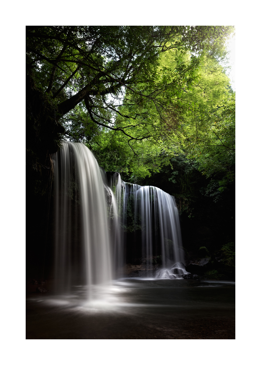 Fine art image of Nabegataki Waterfalls at Kumamoto, Japan with the silky glow effect for the water.
